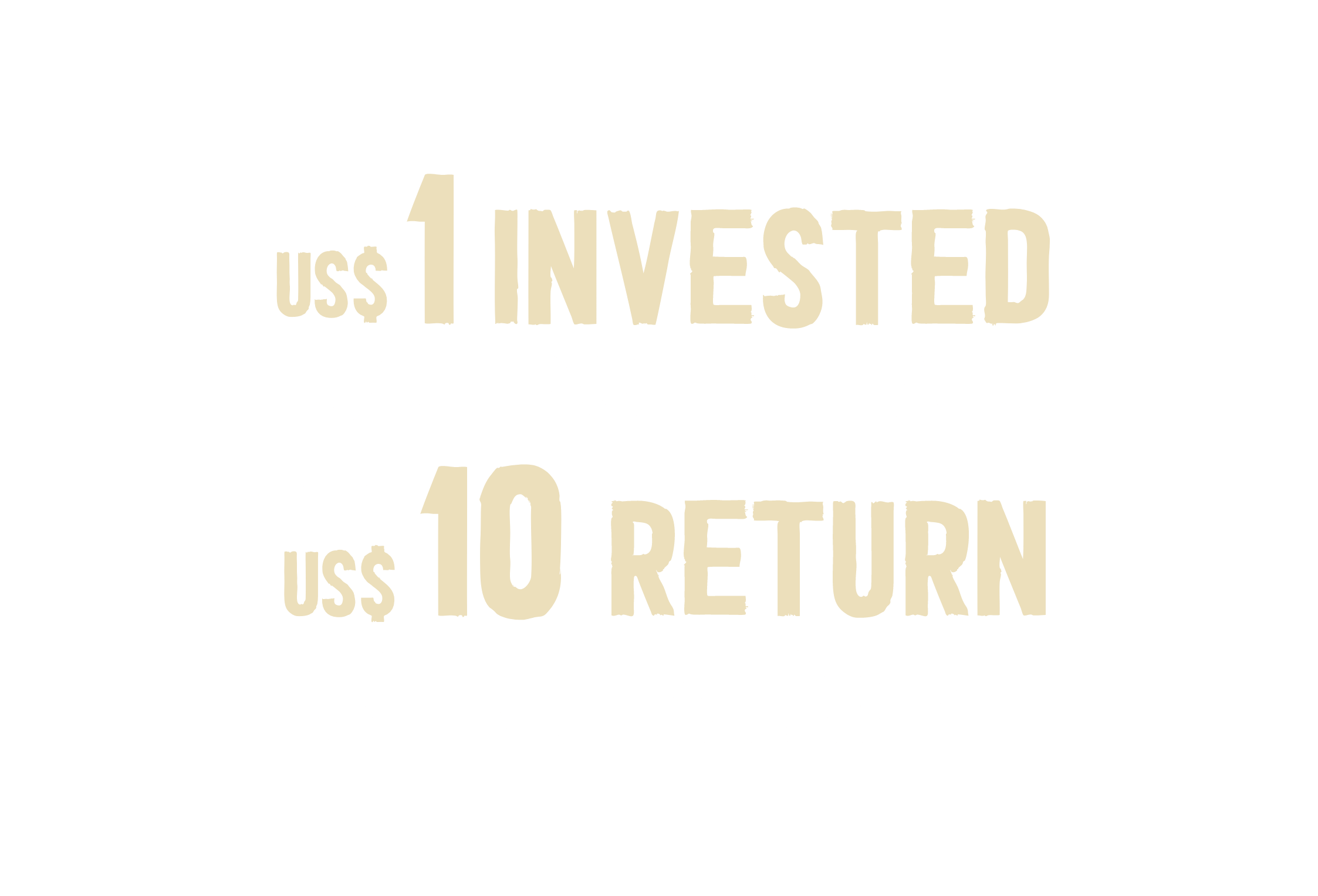 Every 1 dollar invested in school meals has a 10 dollar return on investment