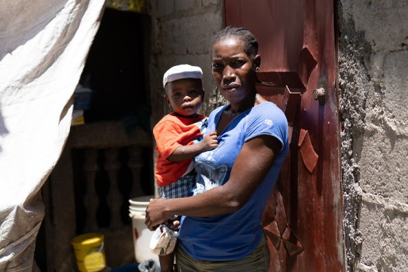 WFP/Antoine Vallas. A mother and son in Grande Rivière du Nord, North of Haiti. Erratic weather and economic shocks are main factors driving up hunger among the poorest Haitians.