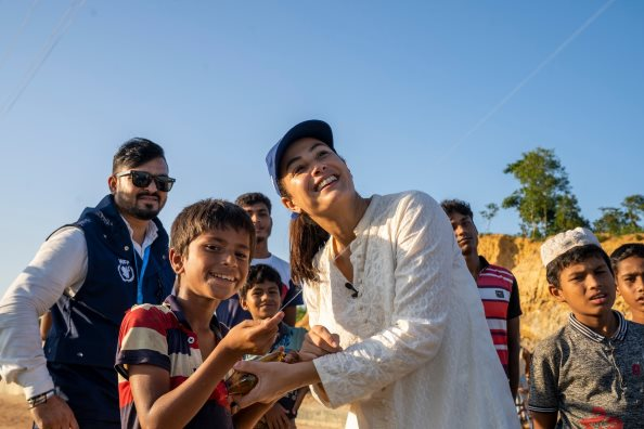 Photo: WFP/ Photogallery, (WFP) Goodwill Ambassador and Arab Star Hend Sabry today visited Rohingya Refugees in Bangladesh.