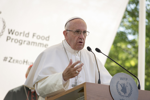 Pope Francis Urges Increased Commitment To The Fight For Zero Hunger