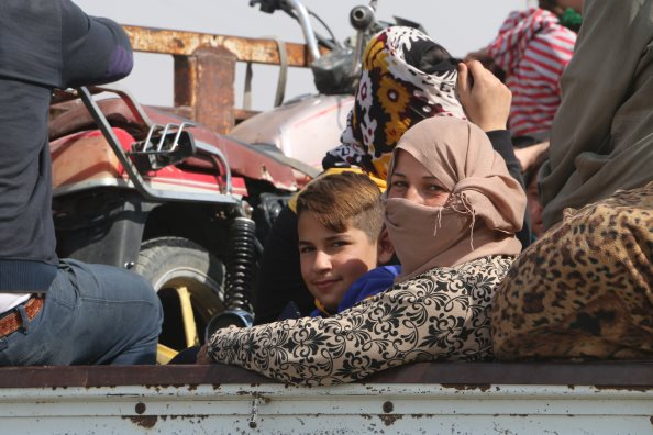 Photo: WFP\Alan Ali, hostilities in northeast Syria is leading tens of thousands of people to flee their homes.