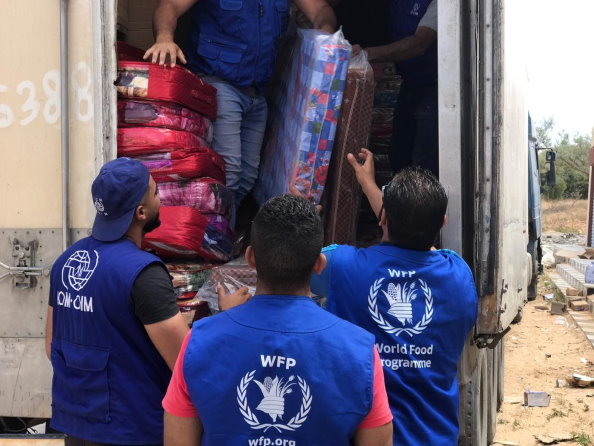 WFP and IOM working hand in hand in Libya to support displaced communities. (C)IOM