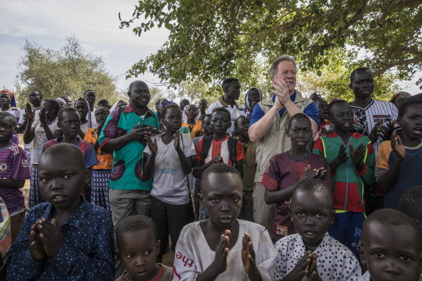 Photo: WFP/Gabriela Vivacqua, WFP Executive Director, David Beasley visits Yabus, a town in the southern state of Blue Nile