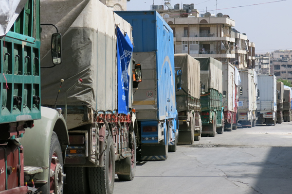 World Food Programme Provides Food To Syrians Fleeing Aleppo Fighting