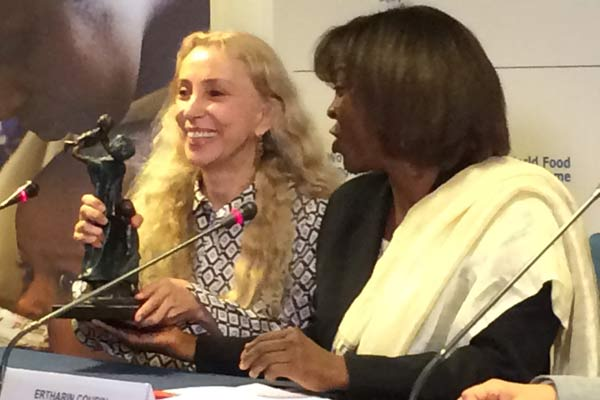 Editor-In-Chief Of Vogue Italia Franca Sozzani Named WFP Ambassador Against Hunger