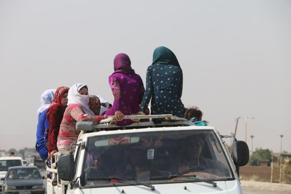 Photo: WFP/Alan Ali, Syria, Al-Hasakah Governorate, hostilities in northeastern Syria are leading tens of thousands of people to flee their homes.