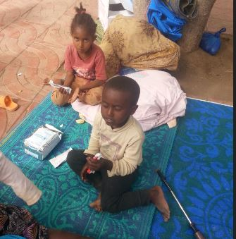 WFP provides food for families driven from their homes by violent