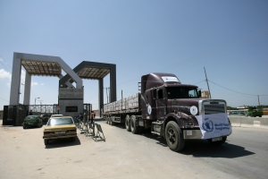 WFP Humanitarian Convoy Delivers Food To Gaza Through Egypt's Rafah Crossing