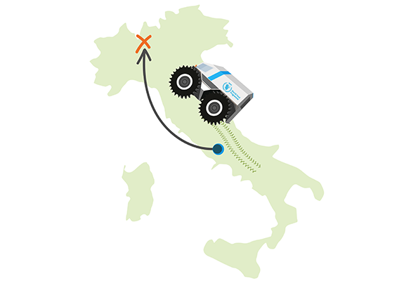 A Sherp can travel nearly half the distance of Italy on a single tank!