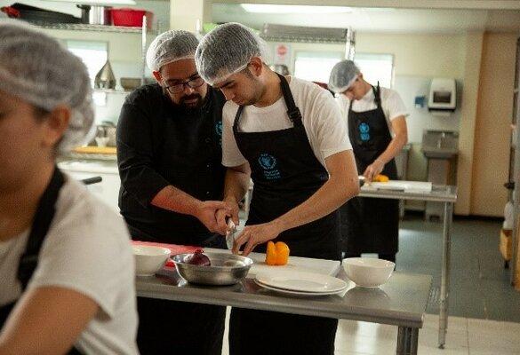 men cooking