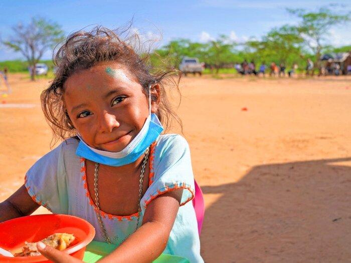 Indigenous child in La Guajira, Colombia