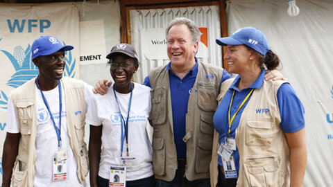 WFP Executive Director and field staff