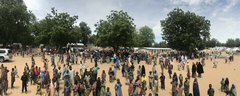Northeast Nigeria crisis: WFP provides a lifeline to new arrivals in Bama Camp