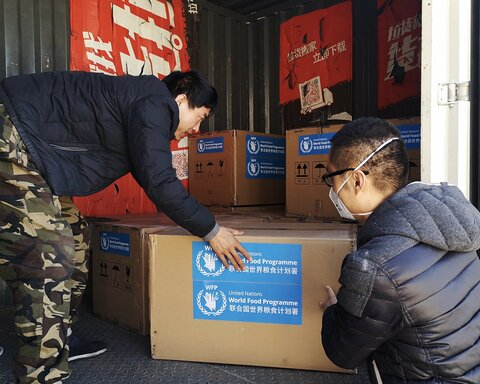 World Food Programme sends medical equipment to support China's response to coronavirus
