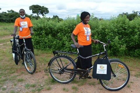 Women's day: Volunteers in Zambia get on their bikes to tackle poor nutrition