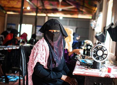 It's a wrap: Rohingya refugees upcycle hopes and dreams in Bangladesh