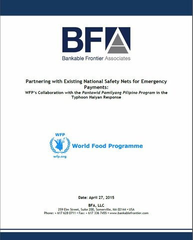 Philippines Partnering With Existing National Safety Nets For Emergency Cash Assistance World Food Programme