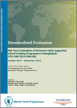 Bangladesh, School Feeding Programme (2014-2016): an evaluation