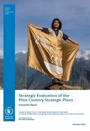 Evaluation of the Pilot Country Strategic Plans
