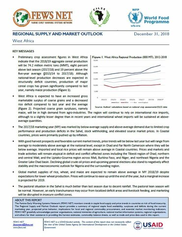 West Africa - Regional Supply and Market Outlook, December 2018