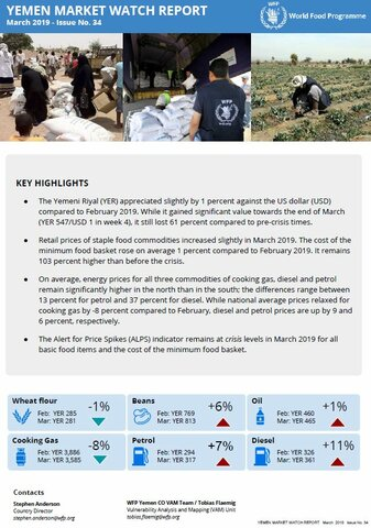 Yemen - Market Watch Report, March 2019