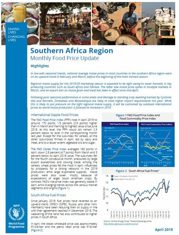 Southern Africa - Monthly Food Price Update, April 2019
