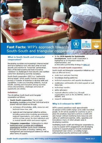 Fact Facts: WFP's Approach Towards South-South And Triangular Cooperation