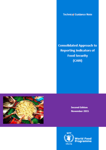 Consolidated Approach to Reporting Indicators of Food Security (CARI) Guidelines