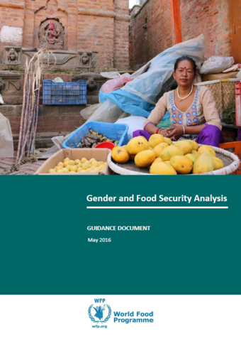 Gender - Guidelines: Gender and Food Security Analysis