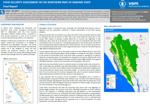 Myanmar - Food Security Assessment in the Northern Part of Rakhine State, July 2017