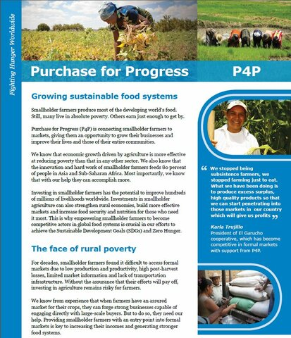 Purchase for Progress: Improving livelihoods to achieve food security