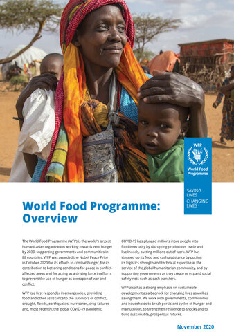 Cover WFP overview fact sheet