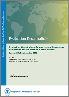 A Decentralized Evaluation of WFP's Asset Creation Programme in Mali