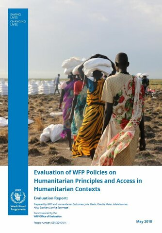 Evaluation of WFP Policies on Humanitarian Principles and Access in Humanitarian Contexts
