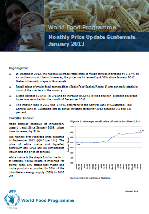 Guatemala - Monthly Price Update, 2013