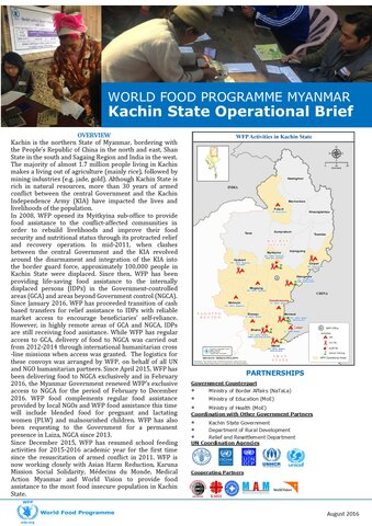 World Food Programme Myanmar: Kachin State Operational Brief