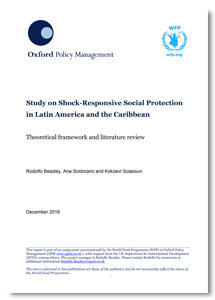 Shock-responsive social protection in Latin America and the Caribbean