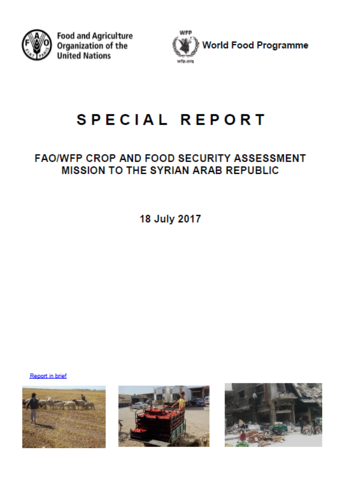 Syrian Arab Republic - FAO/WFP Crop and Food Security Assessment Mission, July 2017