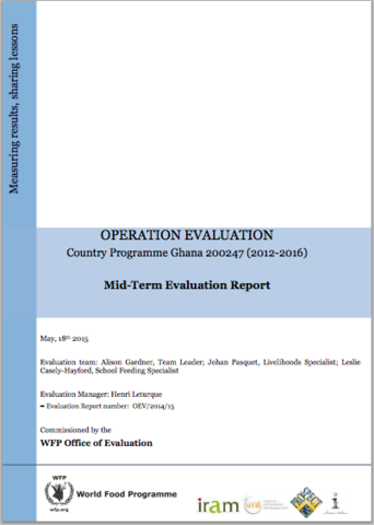 Ghana CP 200247 (2012-2016): A mid-term Operation Evaluation