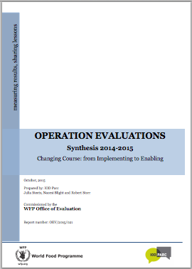 Annual Synthesis of Operation Evaluations (2014 - 2015) Changing Course: From Implementing to Enabling