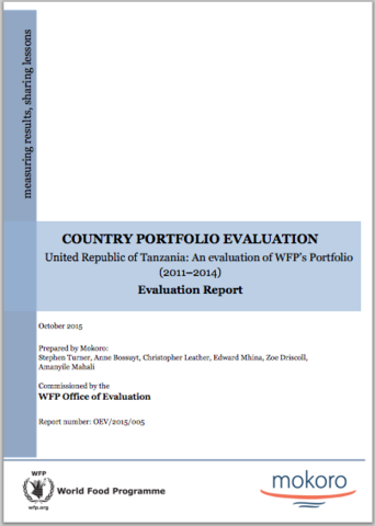 Tanzania: An evaluation of WFP's portfolio (2011– 2014)