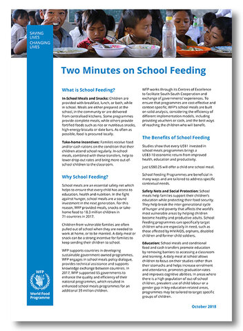2018 -  Two minutes on School Feeding Factsheet