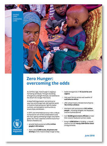 2018 - Zero Hunger: overcoming the odds