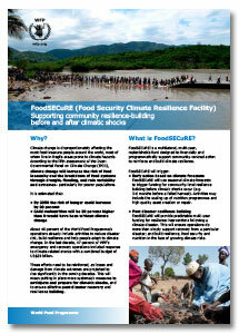 2015 -  Food Security Climate Resilience Facility (FoodSECuRE)