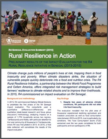 R4 Rural Resilience Initiative in Senegal - Evaluation Summary (2015)