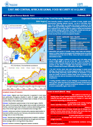 East and Central Africa Regional Food Security at a Glance