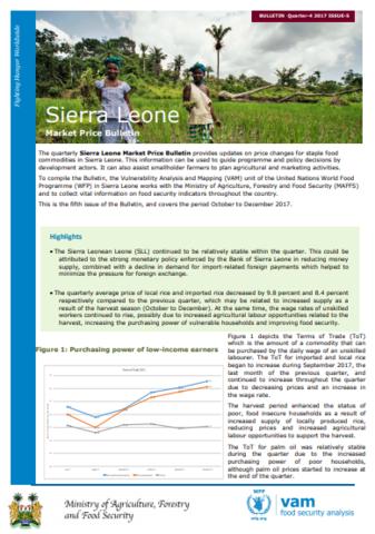 Sierra Leone - Market Price Bulletin, 2017   World Food