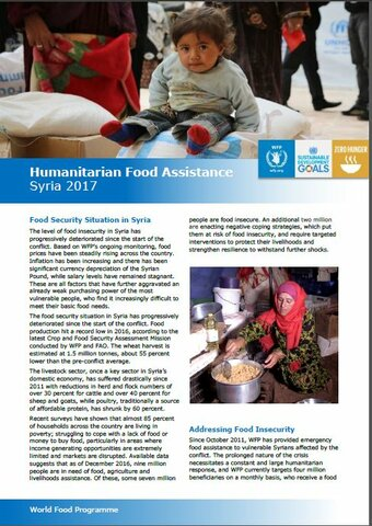 2017 - Syria Emergency Response Fact Sheets