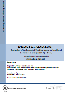 Food for Assets on Livelihood Resilience in Senegal: An Impact Evaluation