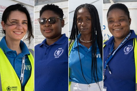 Meet the four women behind WFP's humanitarian helicopter in Haiti